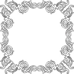 Fine art frame is isolated on white