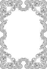 Vintage ornate fine page