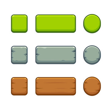Game buttons set