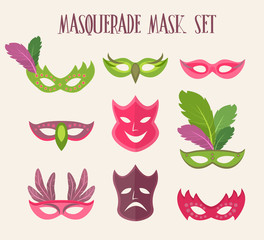 Masquarade mask set