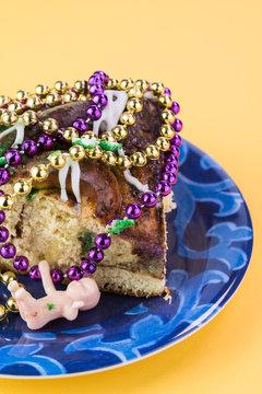 Mardi Gras king cake.
