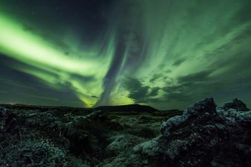 Fototapete - Aurora borealis (Northern lights)
