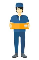 Man delivering box.