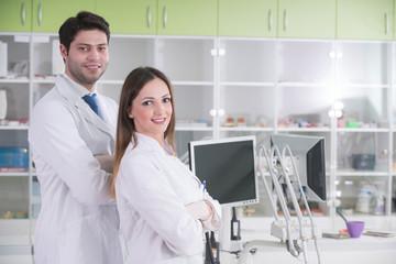Dentist  at stomatology clinic