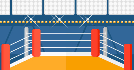 Background of boxing ring.