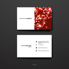 Set of Design Business Card Template in Chinese New Year style