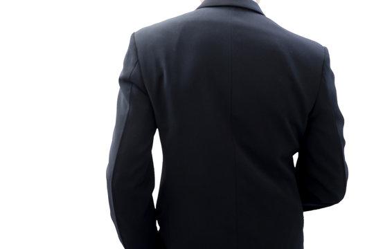 Back side of businessman