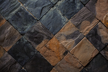 Background of black and brown stone tiles