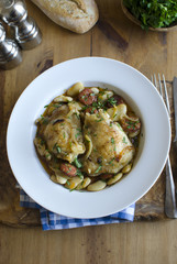 Chicken with butter beans