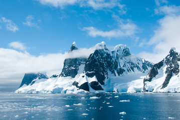 Canvas Prints Antarctica Mountains of Antarctica in a beautiful sunny day