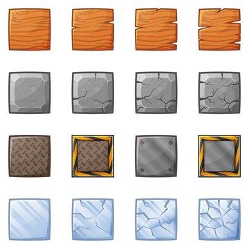 Square Blocks For Physics Game 1