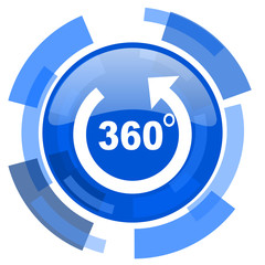 panorama blue glossy circle modern web icon