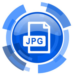 jpg file blue glossy circle modern web icon