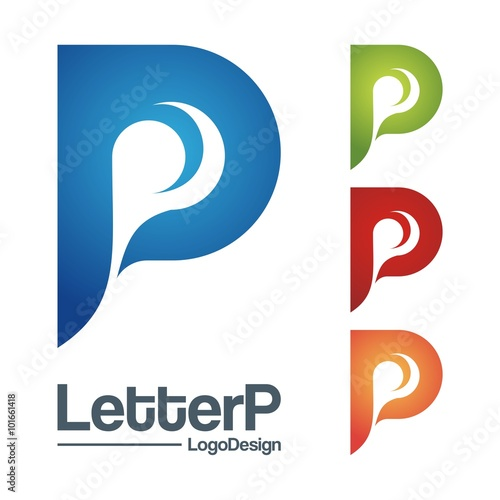 quotletter p design logoquot stock image and royaltyfree vector