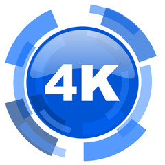 4k blue glossy circle modern web icon