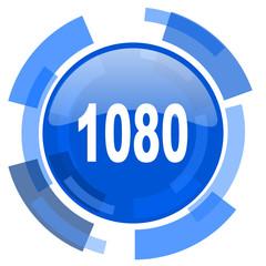 1080 blue glossy circle modern web icon
