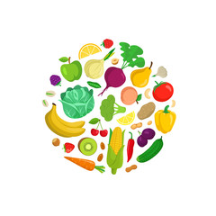 Vegetables round composition.