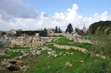The archeological complex of Hal Tarxien in Malta