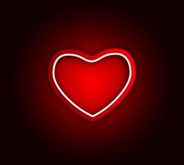 valentine heart in the center