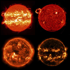 Sun in outer space. Elements of this image furnished by NASA