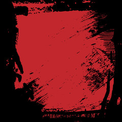 red black grunge border frame background, illustration design element