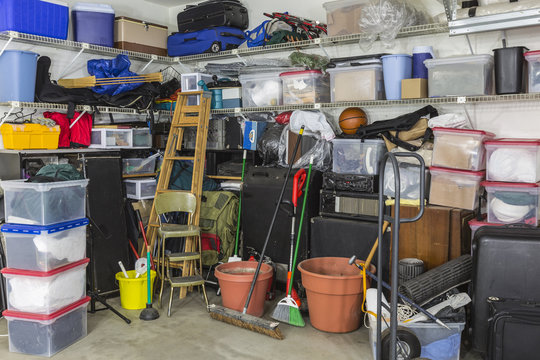 Messy Packed Garage
