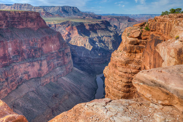 Arizona-Grand Canyon National Park-N Rim-Toroweep. This image shows the spectacular 3000 ft. sheer drop to the mighty Colorado River.