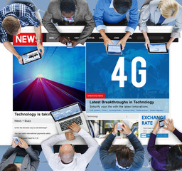 4G Technology Communication Networking Internet Online Concept