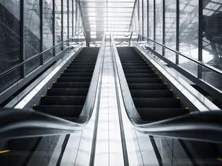 Escalator in public building Urban Business travel background