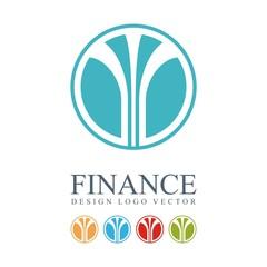 Finance Logo - Abstract Fountains Design Logo Vector
