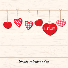 Inspirational romantic and love card with Valentine's day