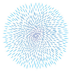 Vector blue line abstract background