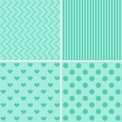 4 geometric patterns set. Vector illustration