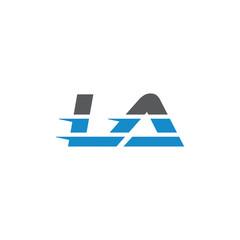 Simple Modern Dynamic Letter Initial Logo la