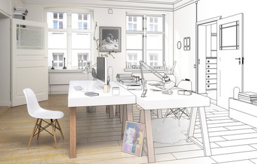 Twin Home Office (draft)