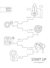 Infographic start up concept