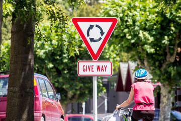 Roundabout - Give Way