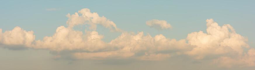 Panorama blue sky background