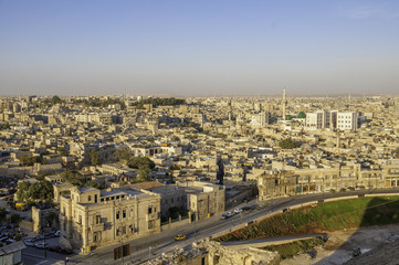 Aleppo panorama from the citadel, Syria