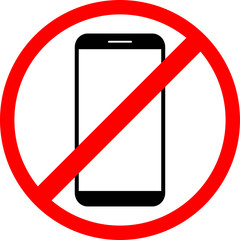 Icon is forbidden use the phone