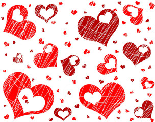 love hearts background