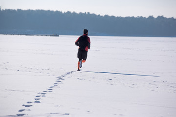 Winter running, Winter jogging, outdoor winter  activities