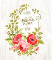 Vintage card background.