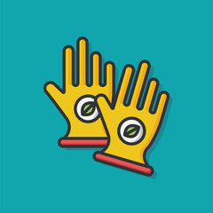 Working gloves vector icon