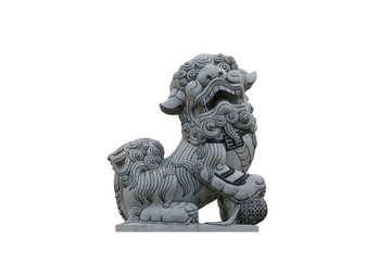 Stock Photo:Stone carving lions