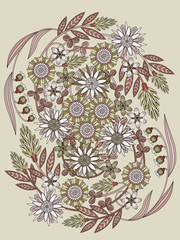 beautiful floral coloring page