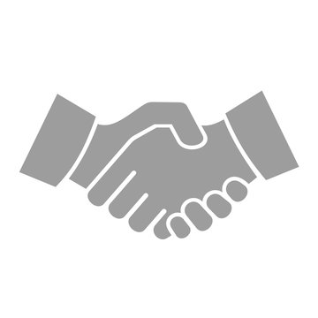 Handshake Icon on White Background. Vector