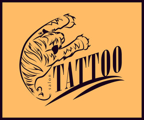Tattoo salon logo design