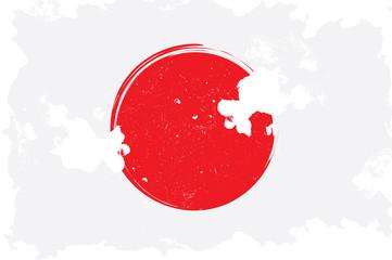 Japan, grunge flag