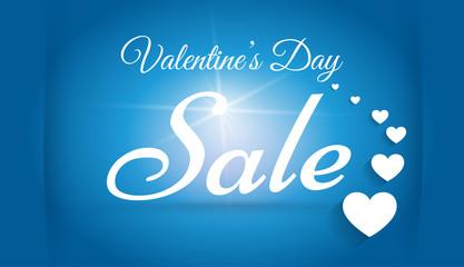 Valentine`s day sale design template. Stock vector.